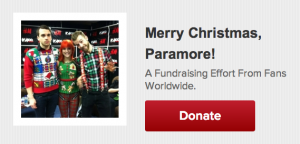 Merry Christmas Paramore - Fundraiser